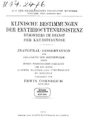 Dissertation, München 1913