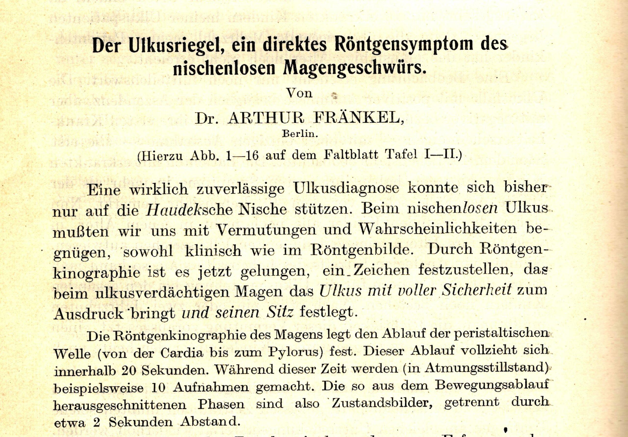 Archiv für Verdauungs-Krankheiten, 1926