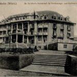 Karl Reichers Hotel Kuranstalt Hohenlohe, Archiv H Je