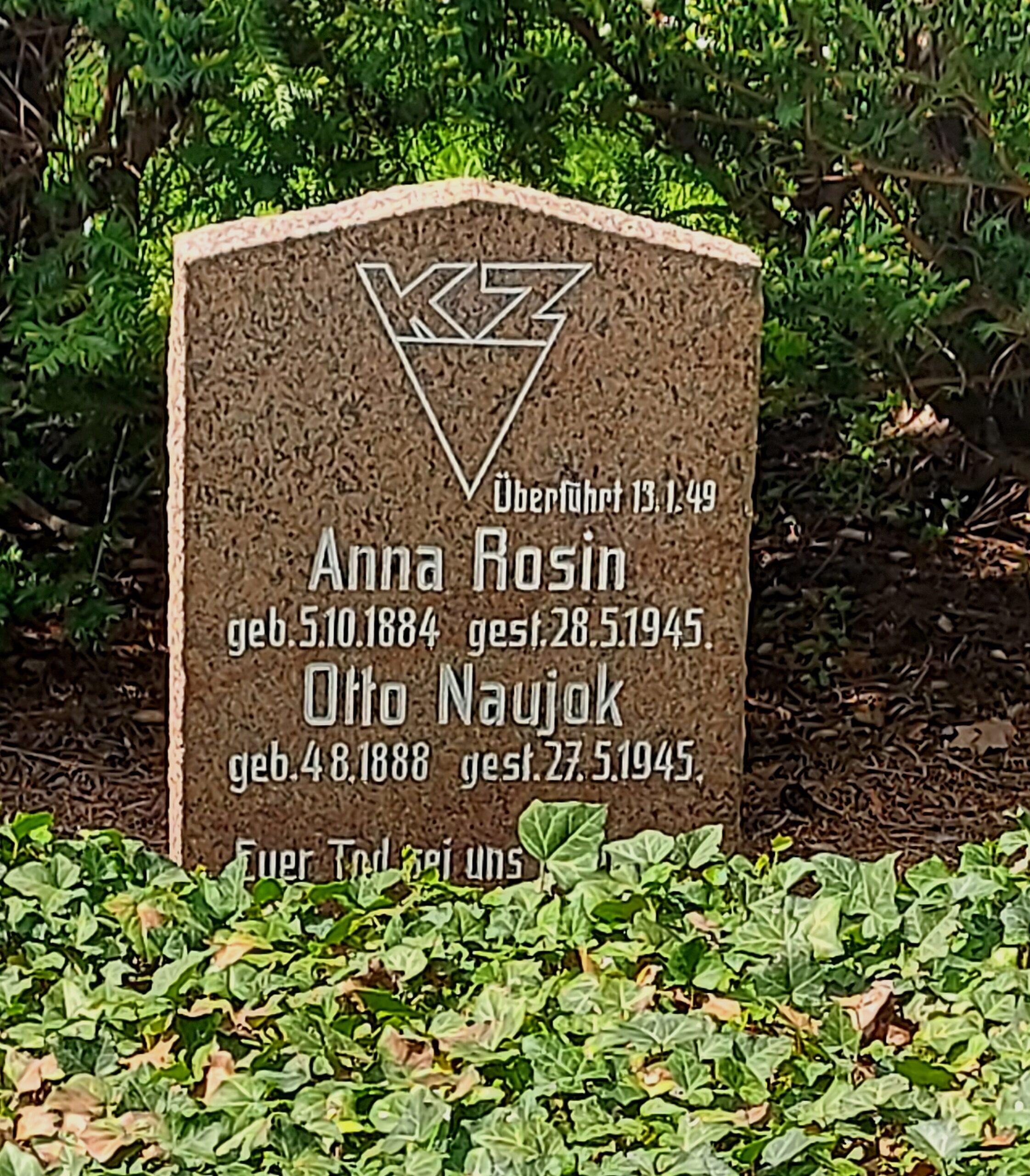 Gedenkstein für Anna Babette Rosin, Trinitatisfriedhof Riesa © Ramona Geißler, Stadtmuseum Riesa