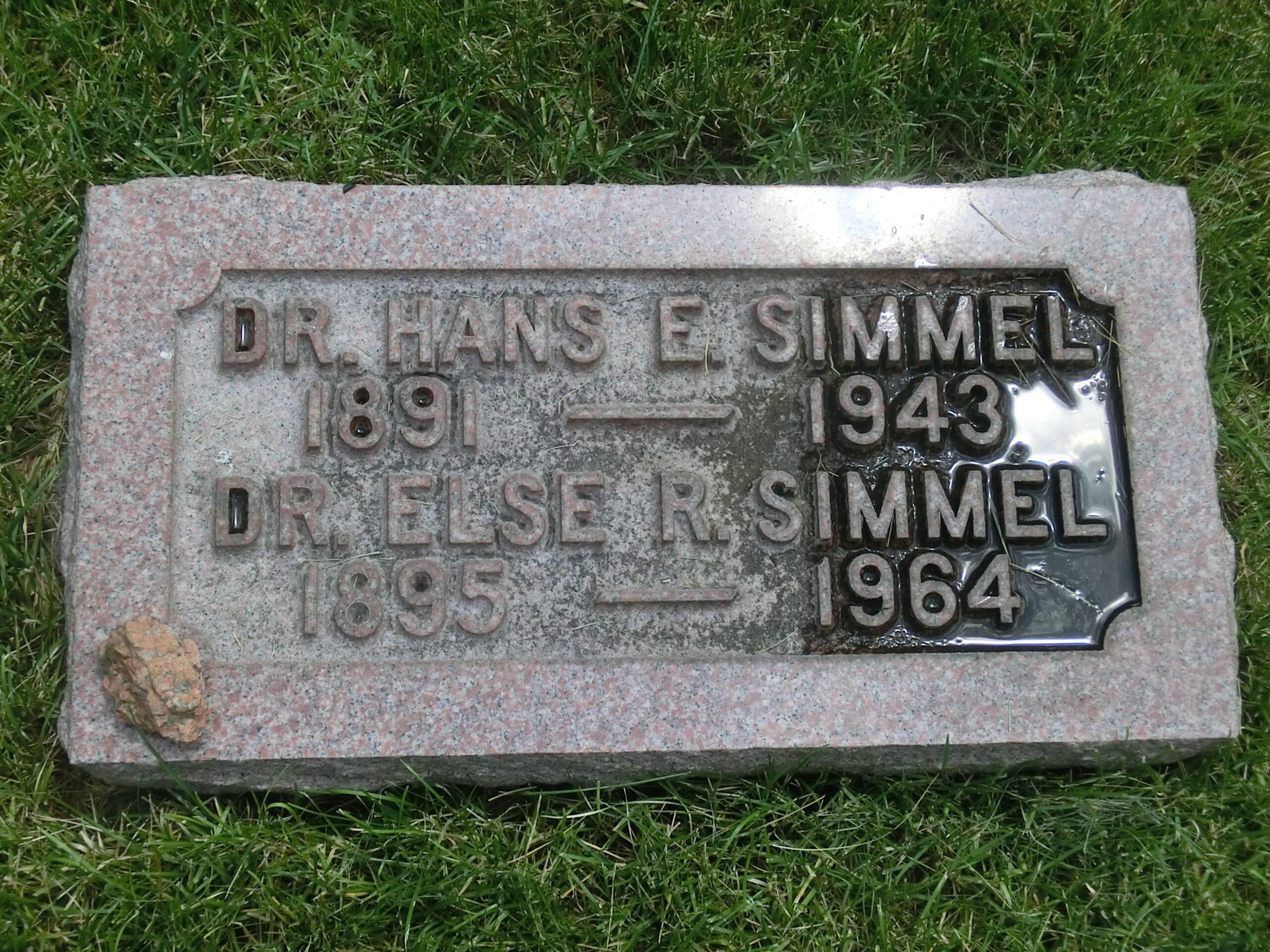 Grabstätte Hans und Else Simmel, Colorado Springs © Cornelia Fris, Seelsorgerin SRH Wald-Klinikum Gera