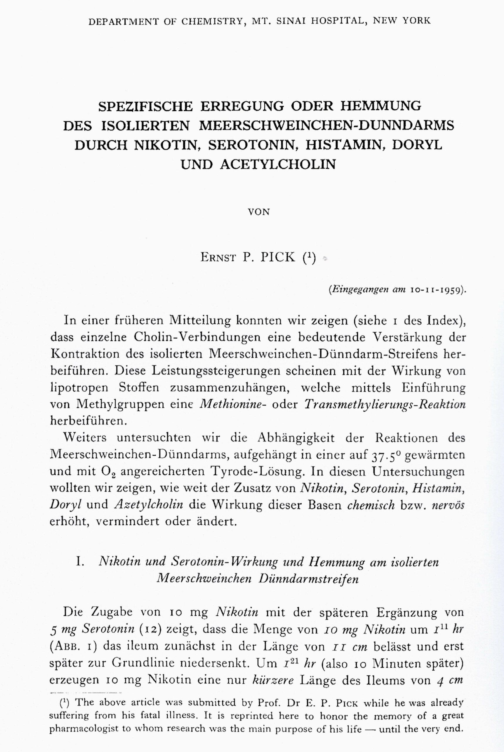 Arch Int Pharmacodyn et de Therap 1960