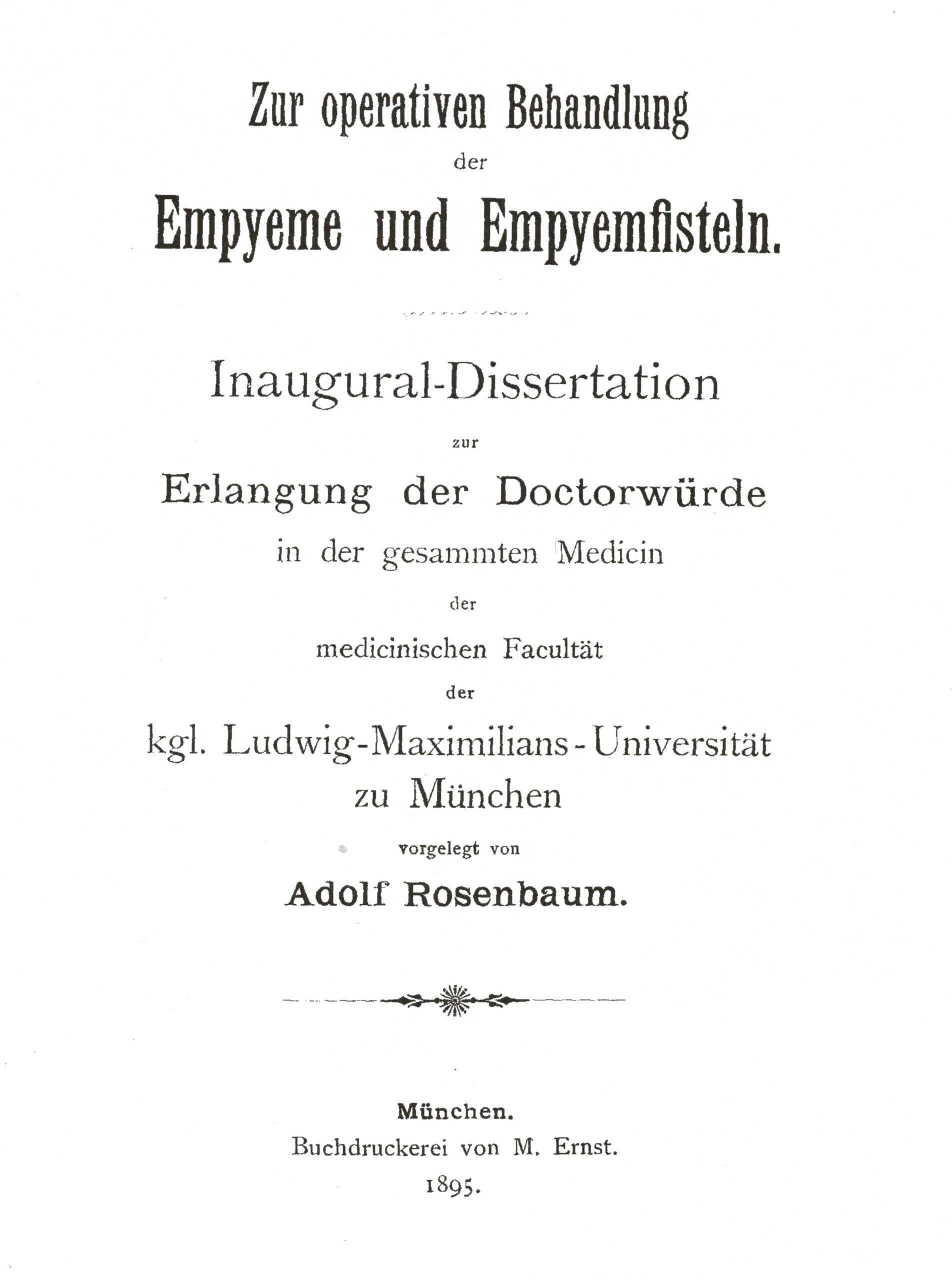 Dissertation, München 1895
