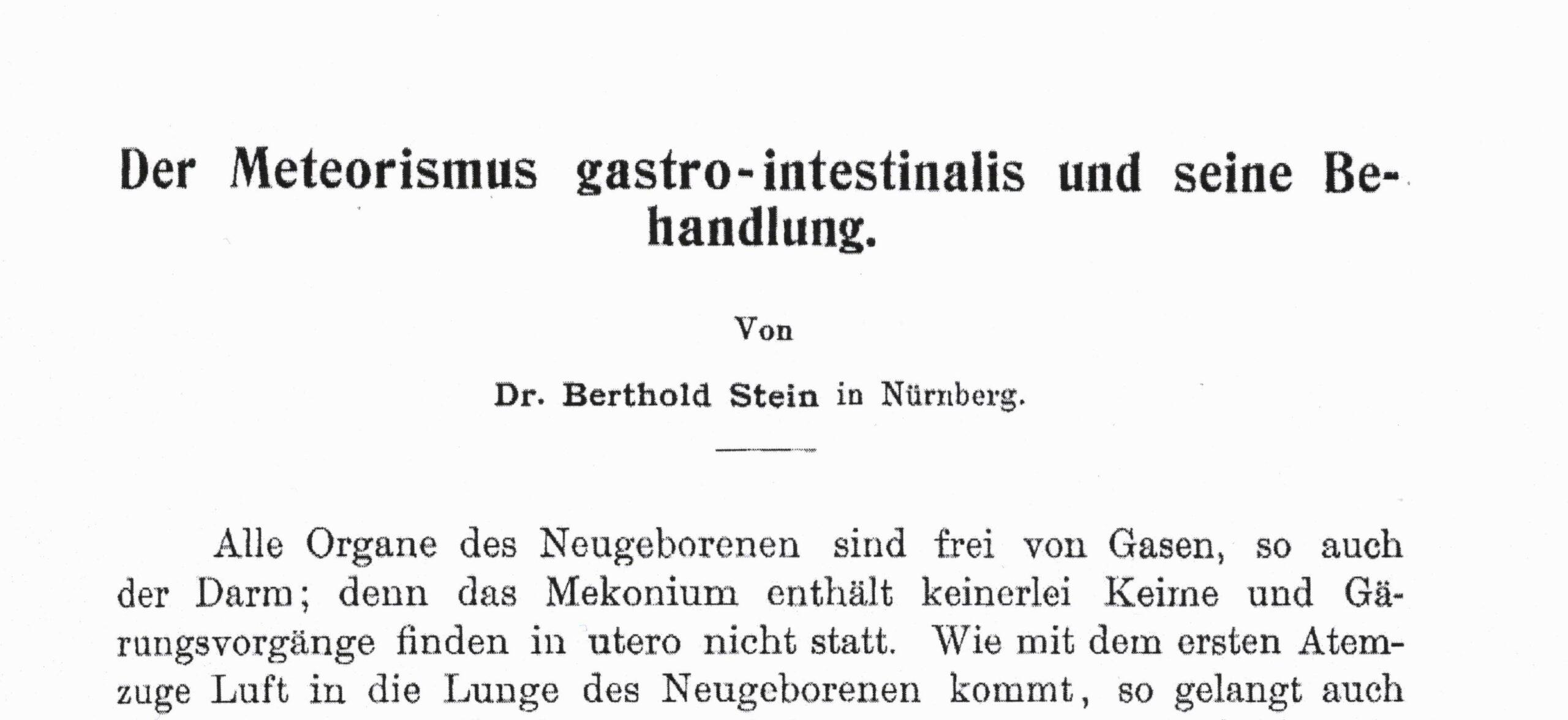 Würzburger Abhandlungen aus dem Gesamtgebiet der praktischen Medizin 1904
