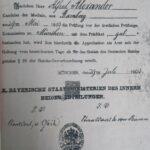Approbationsurkunde 1903, Bildquelle Entschädigungsbehörde Berlin