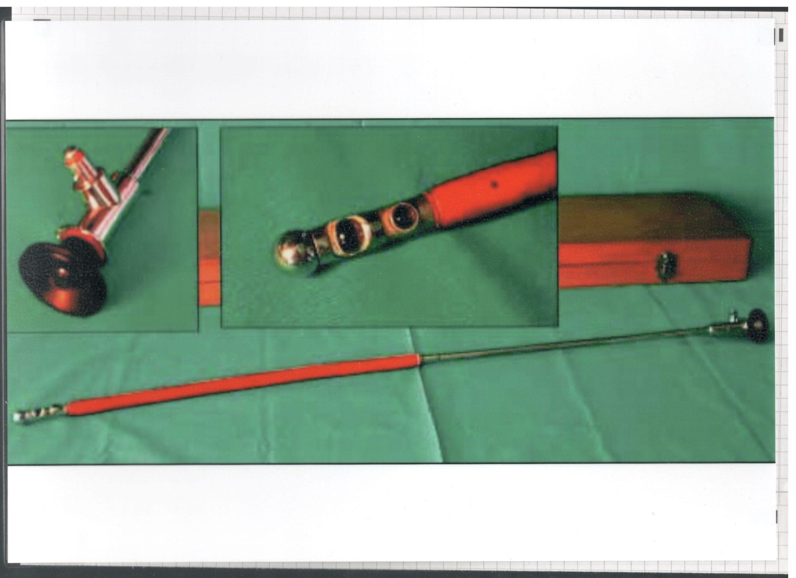 Zusammen mit Georg Wolf entwickeltes semiflexibles Gastroskop