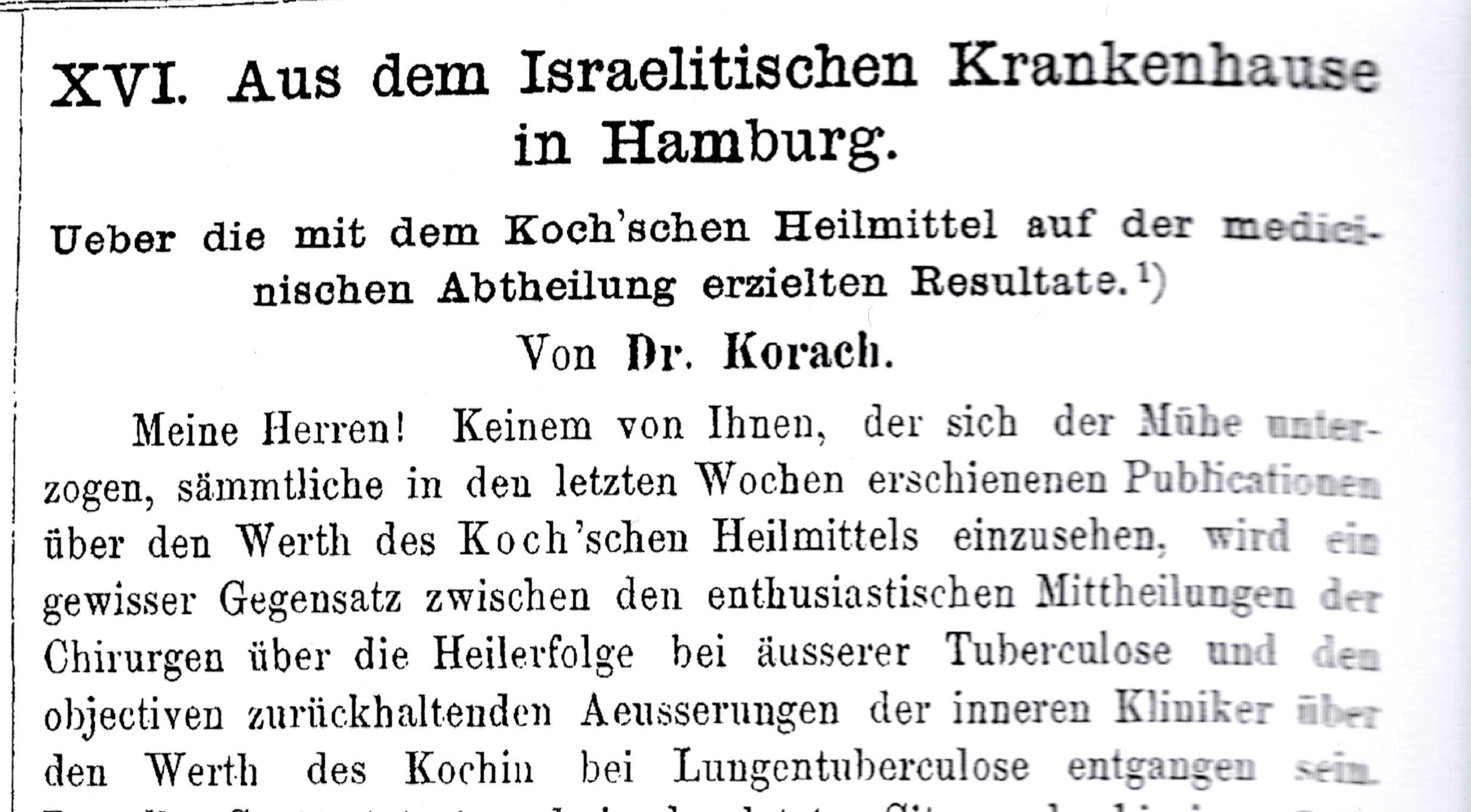 Deutsche Medizinische Wochenschrift 1891