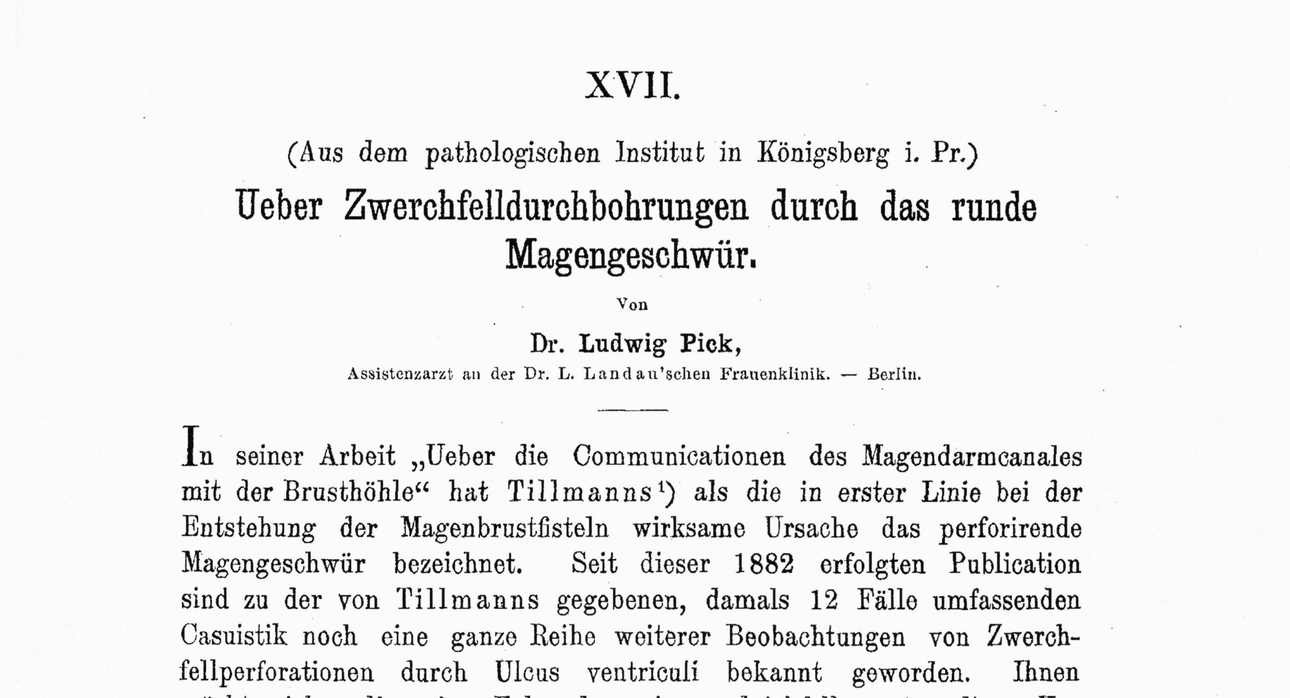 Zeitschrift für Klinische Medizin 1894